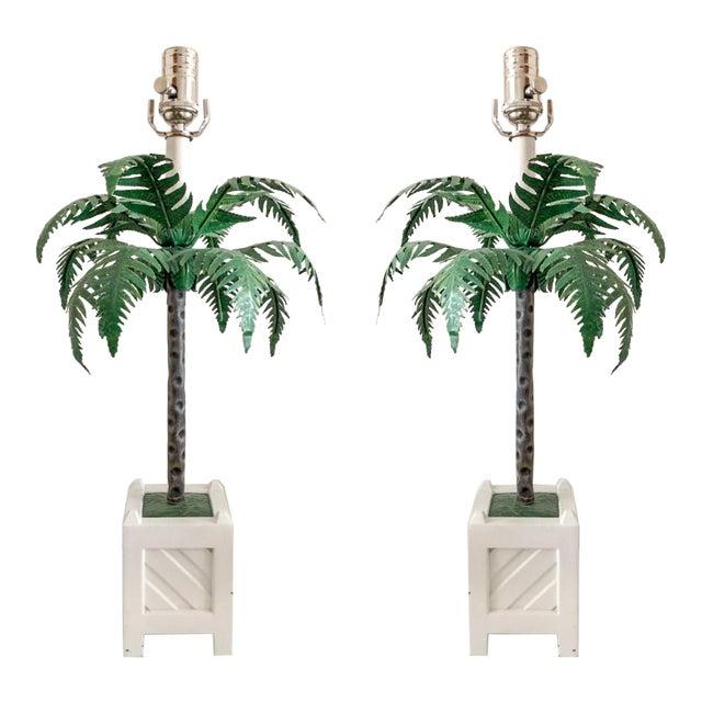 Maison Bagues Tole Lamps, Pair For Sale