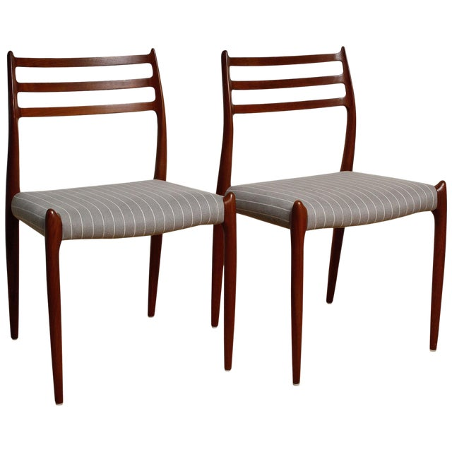 Fully Restored 1960s Teak Dining Chairs by Niels O. Møller-Set of 6 For Sale