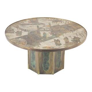 Vintage Kelvin & Phillip Laverne Signed Coffee Table For Sale