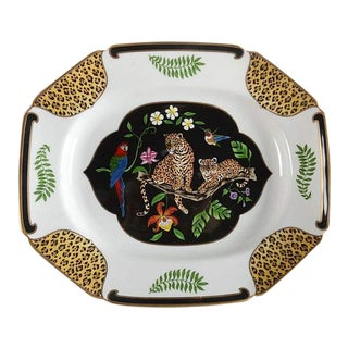 "Lynn Chase ""Jaguar Jungle"" Porcelain Platter"