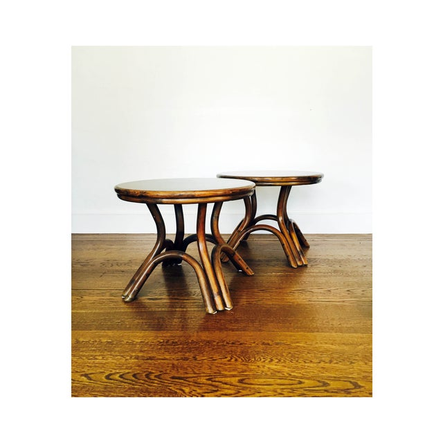 Vintage Bentwood Side Tables - Pair - Image 2 of 6