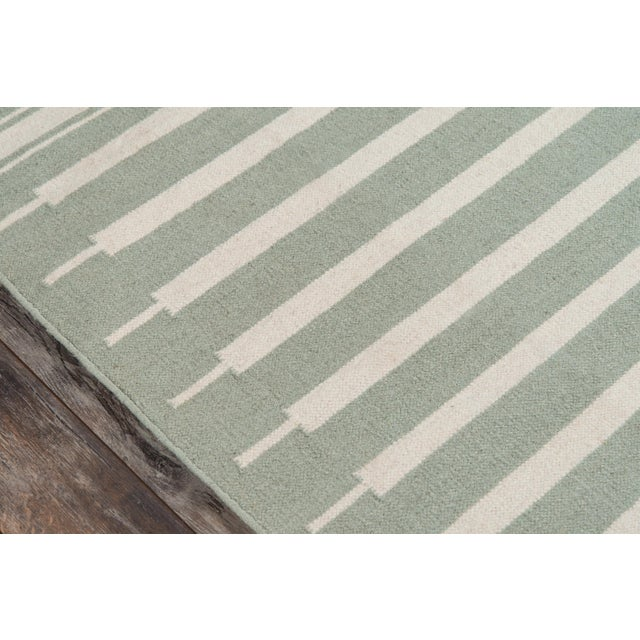 "Contemporary Erin Gates by Momeni Thompson Billings Light Green Hand Woven Wool Area Rug - 3'6"" X 5'6"" For Sale - Image 3 of 6"