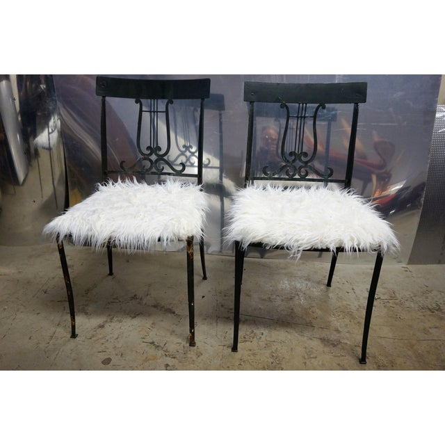 Wrought Iron Musical Chairs - A Pair - Image 2 of 6