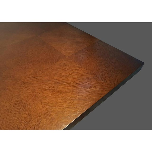 Mahogany Faceted Romweber Dining Table by Harold Schwartz For Sale - Image 7 of 8