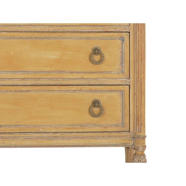 Circa 1940s French Louis XVI Style Antique Painted Desk Over Chest of Drawers For Sale - Image 10 of 13