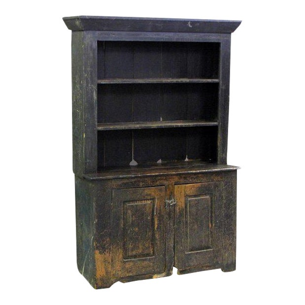 American Primitive Cabinet With Original Paint For Sale