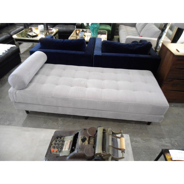 Intuition Light Gray Tufted Velvet Daybed - Image 2 of 7