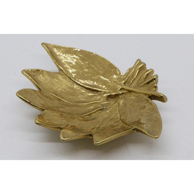 """Virginia Metalcrafters """"Sage"""" Virginia Metalcrafters Brass Dish For Sale - Image 4 of 6"""