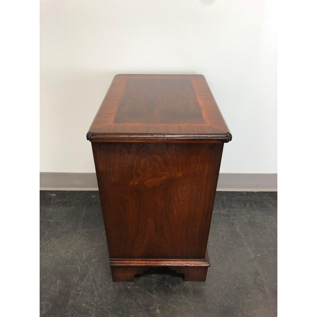 Chippendale Diminuitive Burl Walnut Chippendale Style Chest / Nightstand For Sale - Image 3 of 9