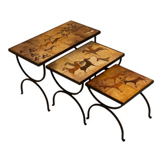 Hand-Hammered Nesting Tables - Set of 3 For Sale