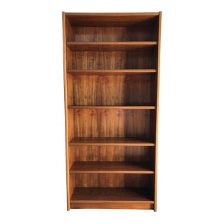 Vintage Mid Century Modern Danish Tall Bookcase. For Sale