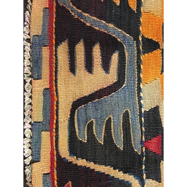 """Vintage Turkish Kilim Rug- 6'3"""" x 9'5"""" - Image 7 of 7"""