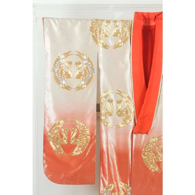 Asian Japanese Ceremonial Kimono Framed in a Lucite Box For Sale - Image 3 of 10