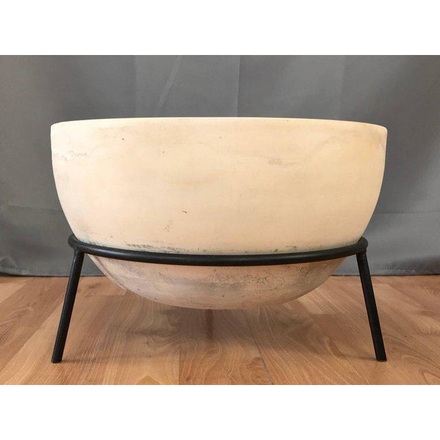 Mid-Century Modern Vintage John Follis for Architectural Pottery Fx Planter With Ms-Fx Stand For Sale - Image 3 of 12