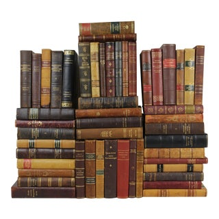 Leather-Bound Books - Set of 50
