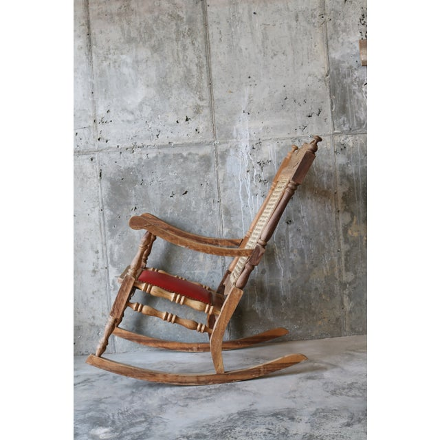 Excellent Vintage Carved Eagle Wood Rocking Chair Chairish Andrewgaddart Wooden Chair Designs For Living Room Andrewgaddartcom