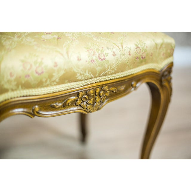 Mid 19th Century Wooden, Upholstered Stool in the Rococo Type, circa 1950s-1960s For Sale - Image 5 of 8