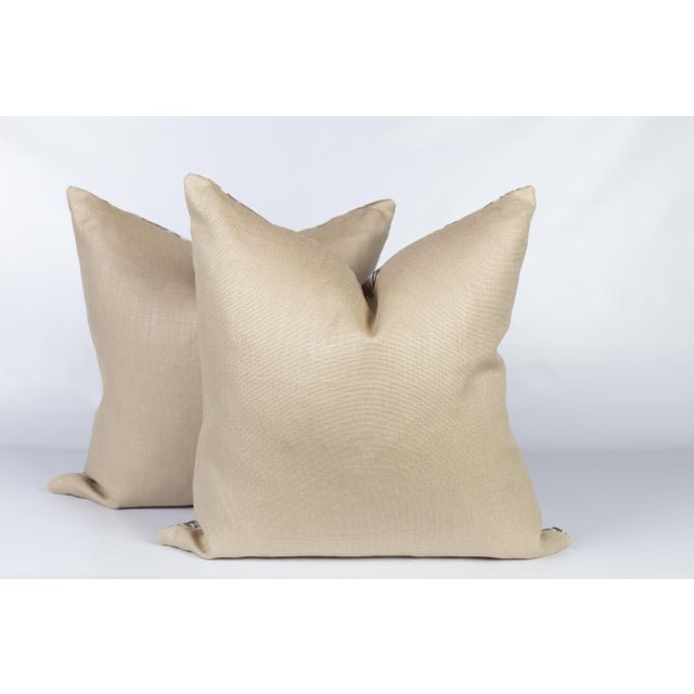 Rapture & Wright Iznik Boho Custom Linen Pillows, Pair For Sale - Image 4 of 5