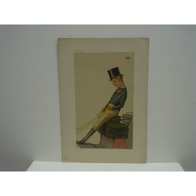 "This is a Vintage -- Vanity Fair Print -- Titled ""Charlie"" - Carrington -- Dated -- February 7, 1874 -- The Print Is In..."