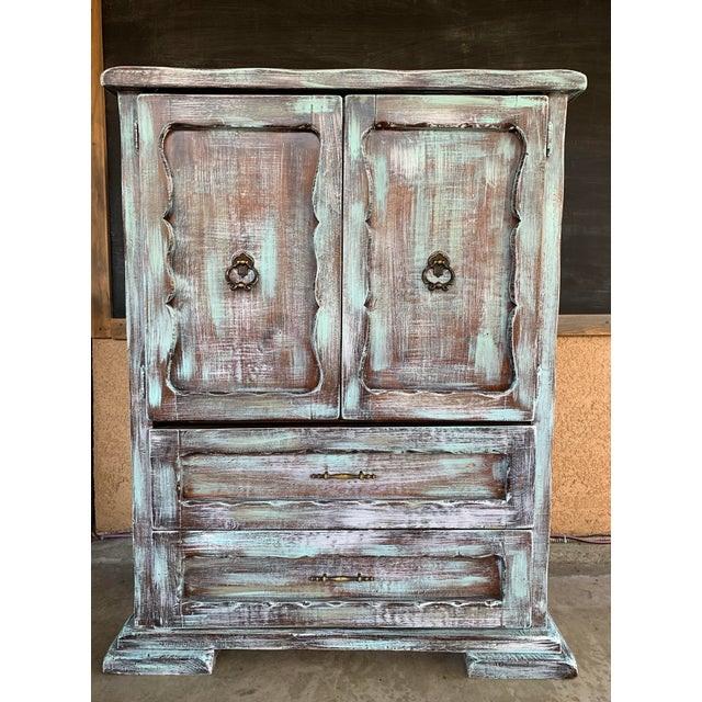 1930s 1930s Antique Rustic Armoire For Sale - Image 5 of 5