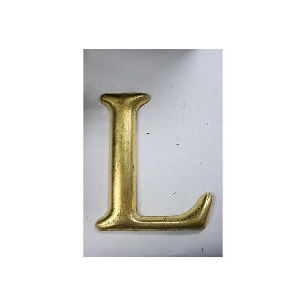 """Vintage English Pub Sign Letter """"L"""" - Image 2 of 3"""