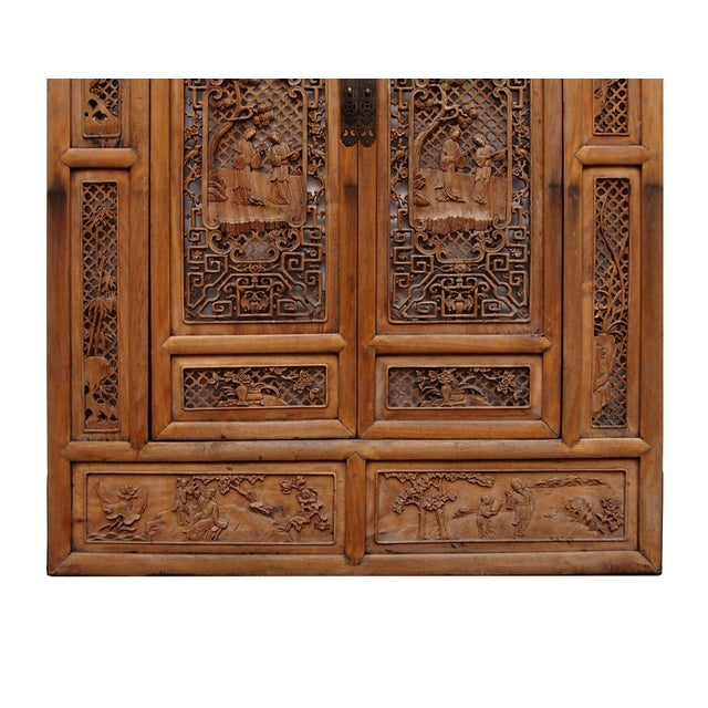 Vintage Carved Wood Asian Wall Panel/Screen - Image 5 of 6