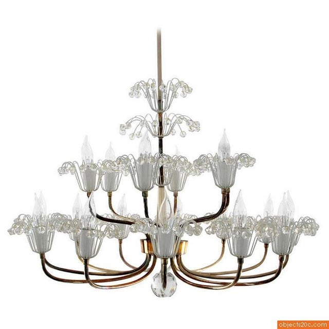 "Eighteen light chandelier by Emil Stejnar.""Emil Stejnar is an an Austrian born gold- and silversmith, a hermetic magician..."