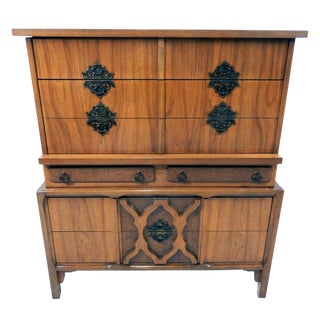 Mid-Century Moroccan Influence Chest of Drawers For Sale