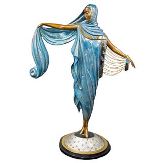 """""""Moonlight"""" Limited Edition Bronze Statuette by Erte For Sale"""