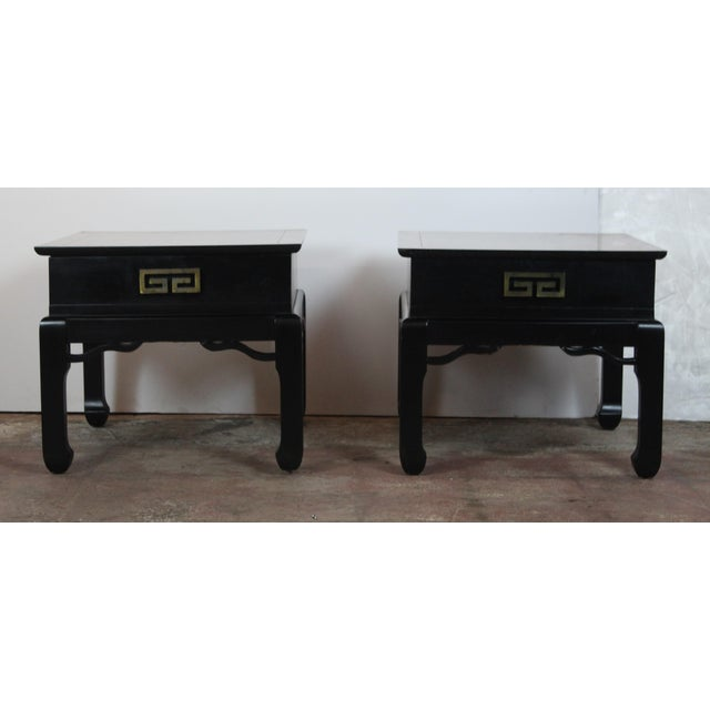 1970s Asian Style End Tables - a Pair For Sale - Image 9 of 9