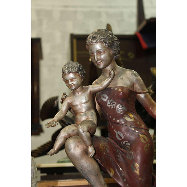 Metal U. Cipriani French Art Deco Lamp Sculpture For Sale - Image 7 of 10