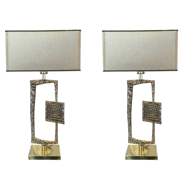 "Mid-Century Modern Sculptural Cast Bronze ""Tea"" Table Lamp by Esperia For Sale - Image 3 of 6"