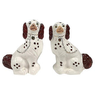 Staffordshire-Style Spaniel Dogs, Pair For Sale