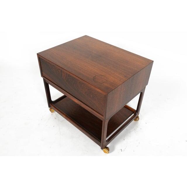 Danish Modern Rosewood Sewing Box - Image 7 of 10