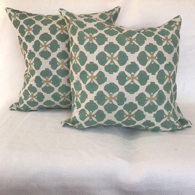 Textile Galbraith & Paul Linen Pillows - A Pair For Sale - Image 7 of 7