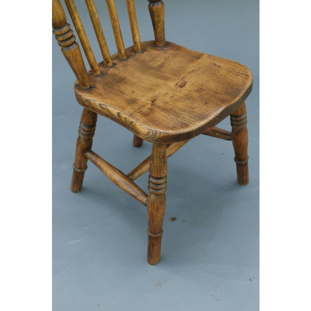Antique English Elm Child's Chair - Image 8 of 8
