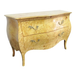 Italian Burlwood Bombay Commode For Sale