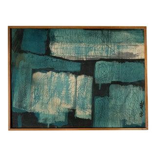 1960s Vintage Leland Art House Chinese Batik Signed & Framed For Sale