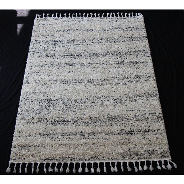Distressed Ivory Shag Rug - 8' x 11' - Image 2 of 7