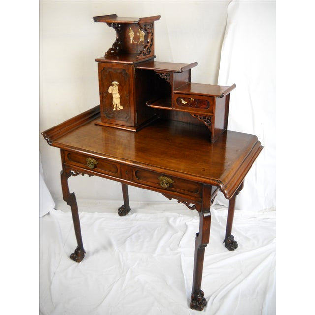 Mid 19th Century Gabriel Viardot-Attributed Japonisme Desk For Sale - Image 5 of 11