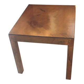 1960s Italian Oyster Puzzle Wood Side Table For Sale