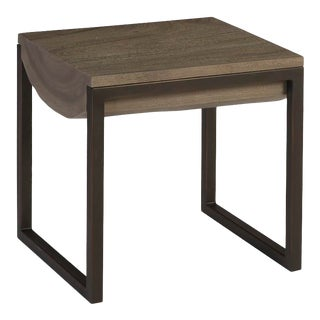 Phillips Collection Suar Wood Side Table, Grey, SM For Sale