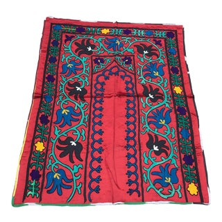Antique Boho Silk Tablecloth / Tapestry For Sale