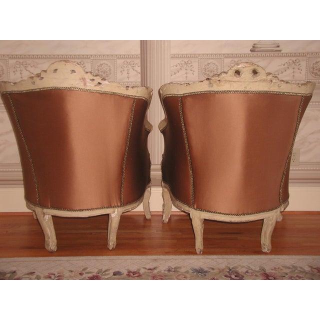 Art Nouveau 18th Century Art Nouveau Hand-Carved Arm Chairs - a Pair For Sale - Image 3 of 9