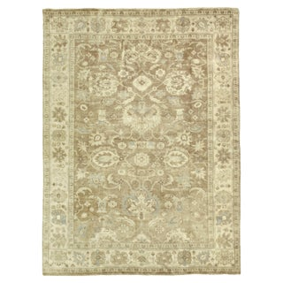 Oushak Gray/Brown Hand knotted Wool Area Rug - 8'x10' For Sale