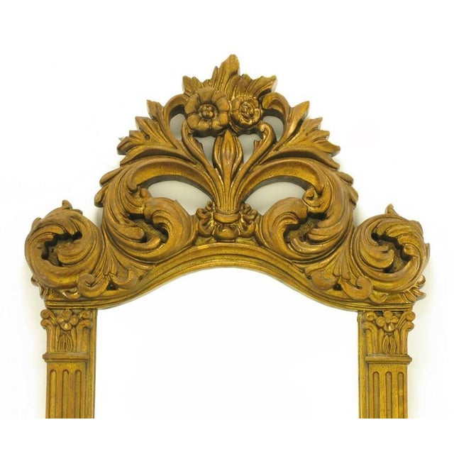 """Two 55"""" Tall Rococo Style Gilt Composition Mirrors For Sale - Image 4 of 7"""