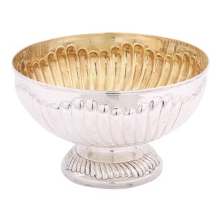 20th Century Italian Sterling Silver Centerpiece Bowl For Sale