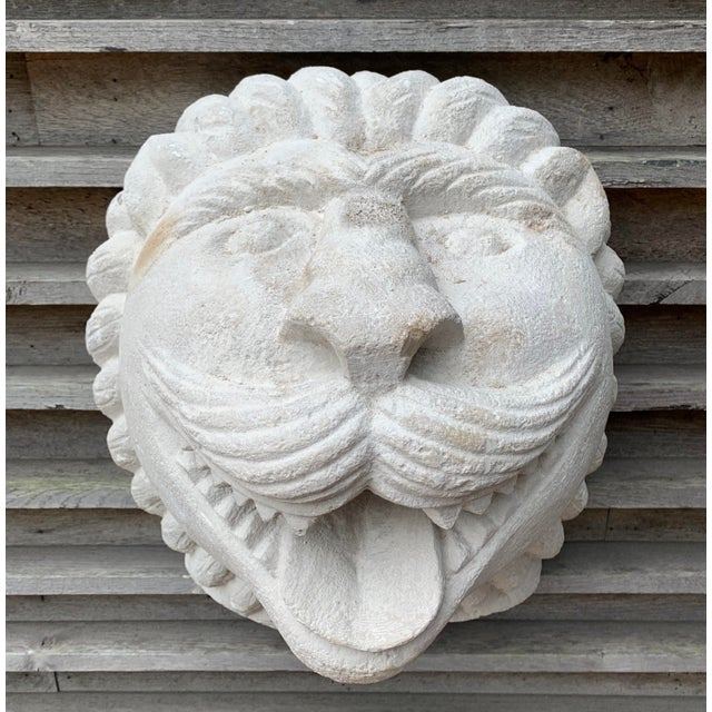 Art Deco 1950s Modern Cast Stone Lion Wall Sculpture For Sale - Image 3 of 4