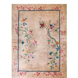 Image of 1920s Antique Chinese Art Deco Rug-9′ × 11′9″ For Sale