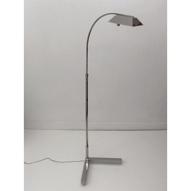Casella Floor Lamp Nickel Plated For Sale In West Palm - Image 6 of 12